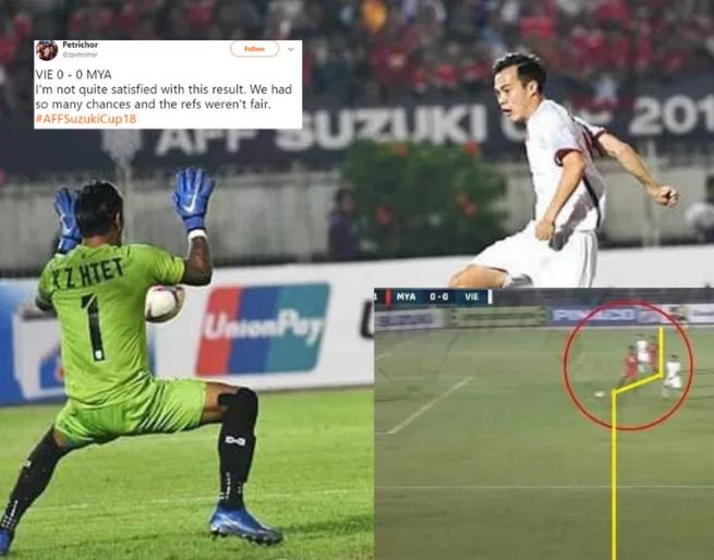 Văn Toàn không việt vị khi ghi bàn vào lưới Myanmar. Ảnh: Fox Sports Asia.