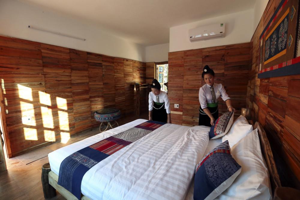 Không gian nghỉ dưỡng thoáng đãng, phong cảnh đẹp cùng hoạt động trải nghiệm thú vị là điều thu hút du khách đến với Homestay Mường Then
