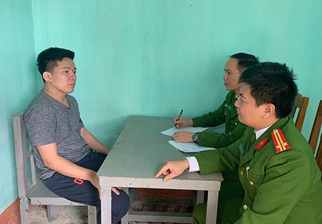 Cơ quan CSĐT Công an Thanh Hóa đấu tranh với đối tượng Nguyễn Đức Thành.