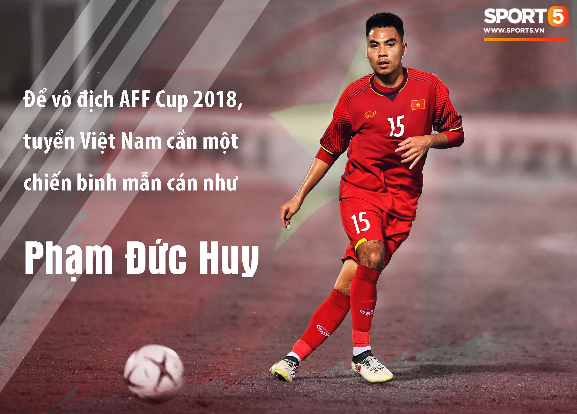 Đức Huy đã đá chính 2 trận gần nhất của đội tuyển Việt Nam. Đồ hoạ: Giang Nguyễn