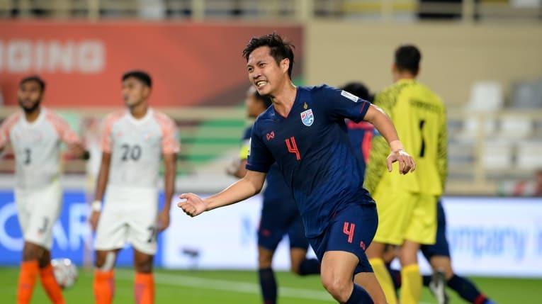 Thái Lan để thua sốc Ấn Độ 1-4 ngày ra quân Asian Cup