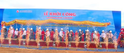 Lễ khởi công dự án điện mặt trời tại Ninh Thuận