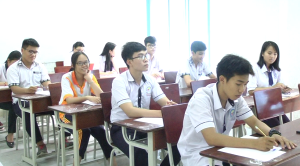 Các thí sinh thi tốt nghiệp Kỳ thi THPT quốc gia năm 2018
