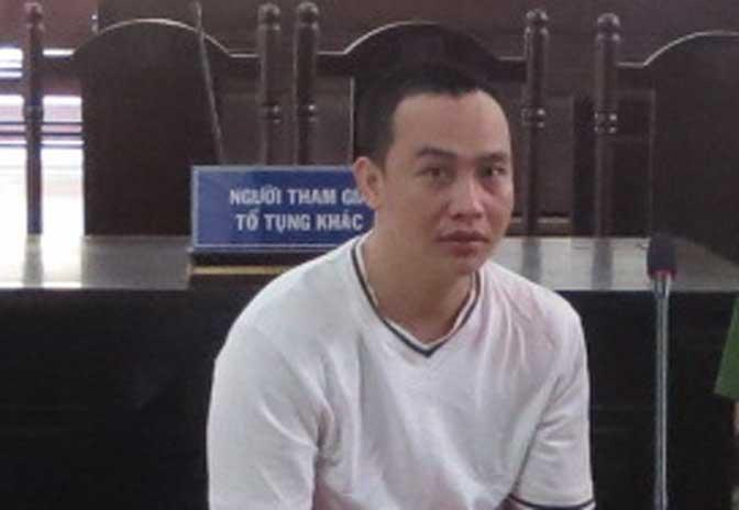 Đối tượng Phạm Thành Minh tại phiên tòa phúc thẩm.