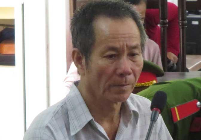 Bị cáo Nguyễn Văn Thuận tại phiên tòa xét xử.