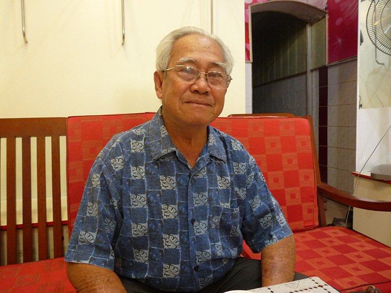 Ông Phạm Dự, người đại diện gia tộc họ Phạm quản lý khu mộ.
