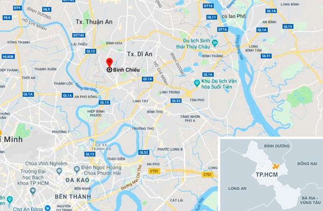 Phường Bình Chiểu, nơi xảy ra vụ cướp. Ảnh: Google Maps.