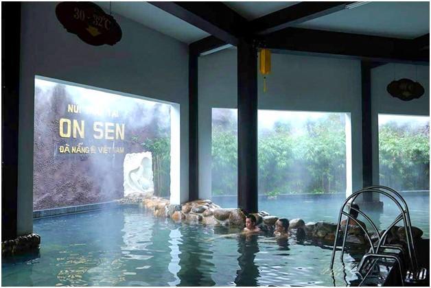 Du khách hoàn toàn có thể trải nghiệm trọn vẹn văn hóa tắm On.sen Nhật Bản ngay tại khu du lịch Núi Thần Tài