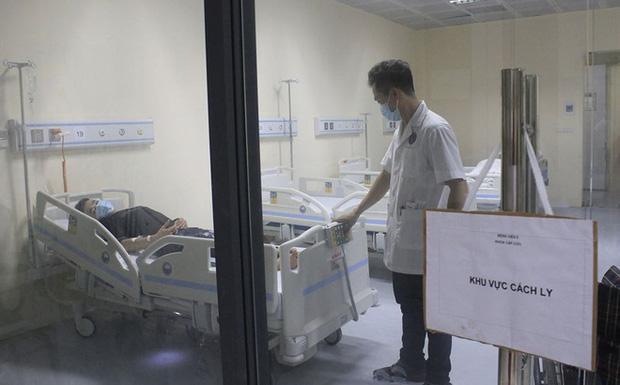Khu vực cách ly 1 nam thanh niên nghi nhiễm bệnh viêm phổi cấp do virus corona tại Hà Nội