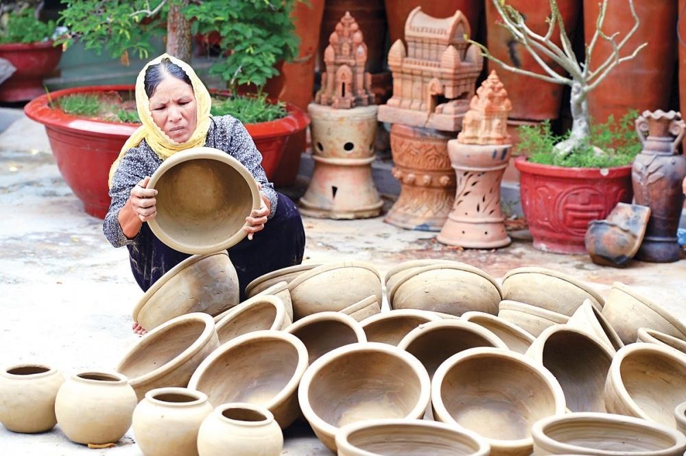 Gốm Bàu Trúc mang đậm bản sắc văn hóa Chăm