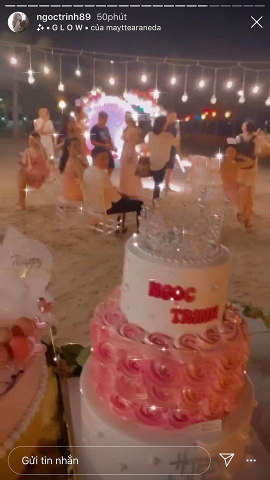 Ngọc Trinh có buổi tiệc đánh dấu tuổi 31 cực sang chảnh trên bờ biển