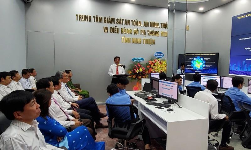 Chủ tịch UBND tỉnh Ninh Thuận Lưu Xuân Vĩnh phát biểu tại buổi lễ.