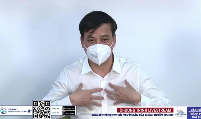 Phó Chủ tịch UBND TP.HCM Lê Hoà Bình chia sẻ về kế hoạch chống dịch và phục hồi kinh tế của TP sau ngày 15-9. Ảnh: NH