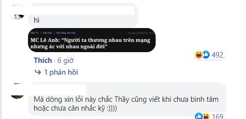 Cộng đồng mạng đào lại phát ngôn của MC Lê Anh trong một chương trình trên VTV