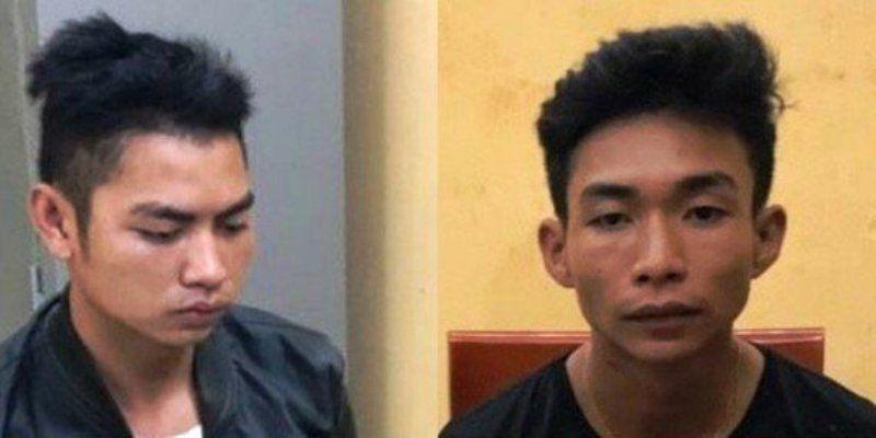 Hai nghi phạm Đinh Văn Trường và Đinh Văn Giáp bị bắt