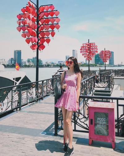 Cây cầu tình yêu nổi tiếng ở Đà Nẵng. (Nguồn: onga.thao)