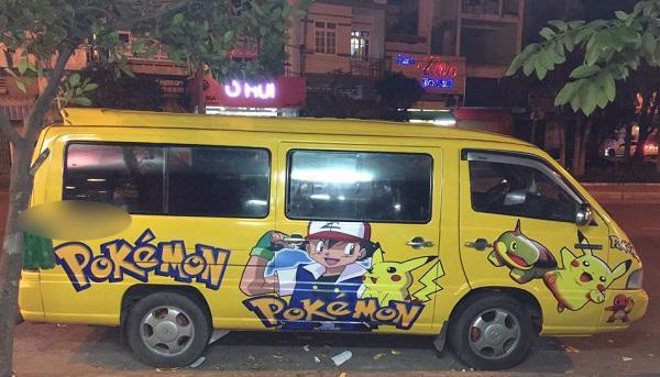 Cận cảnh chiếc xe Pokemon đẹp miễn chê.