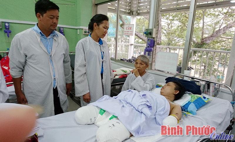 Chị Dương Thị Thắm đang điều trị tại Bệnh viện Chợ Rẫy