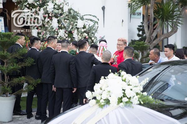 Dàn bê tráp trong đám cưới của Bảo Thy.