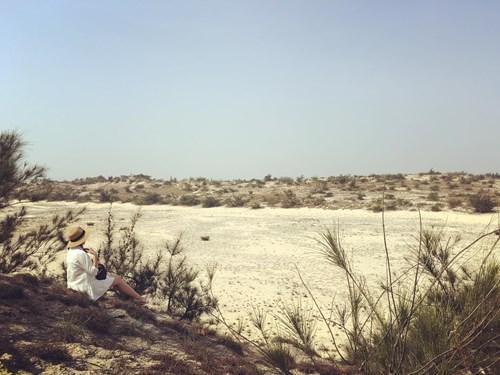 Ngắm hoàng hôn, tại cồn cát trắng cũng là gợi ý rất thú vị cho các bạn đấy ạ. Ảnh: Phương Ngân Trịnh