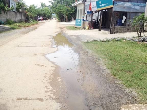 Điểm yếu cố hữu của tuyến đường này là vẫn có điểm ứ nước, chậm tiêu thoát.