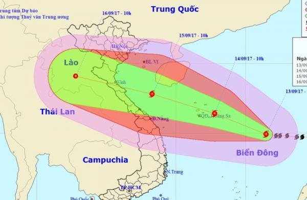 Sức công phá của nó ở mức độ rủi ro thiên tai cấp 4 với vùng ảnh hưởng rộng lên tới 500 km. Ảnh: Đ. TRUNG