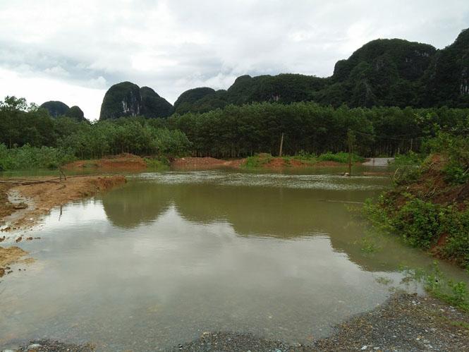 Ngầm Lạc Thiện, nơi ông Hóa bị nước cuốn trôi