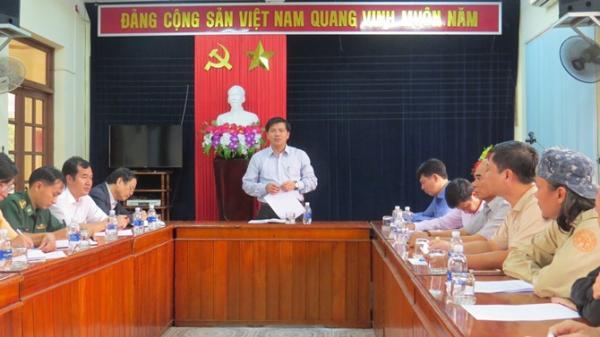 Đồng chí Trần Vũ Khiêm, TUV, Giám đốc Sở Văn hóa và Thể thao phát biểu tại cuộc họp