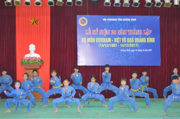 Vovinam Quảng Bình đã được đưa vào dạy chính khóa tại một số trường học.