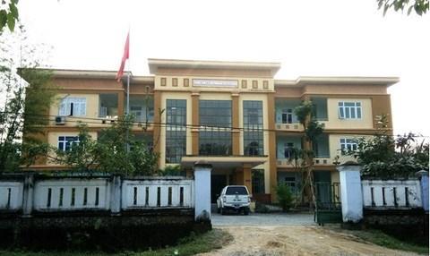 Trung tâm y tế huyện Tuyên Hóa – nơi ông Thi từng làm việc và để xảy ra nhiều sai phạm.
