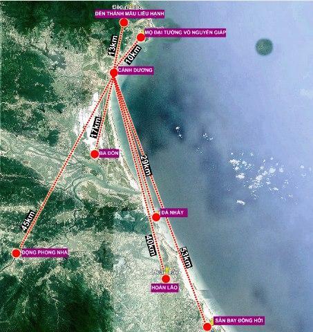 Vị trí địa lý xã biển Cảnh Dương, huyện Quảng Trạch, tỉnh Quảng Bình