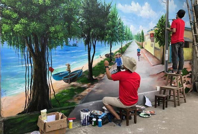 Các họa sĩ trẻ từ nhiều tỉnh trong cả nước hào hứng tham gia dự án.