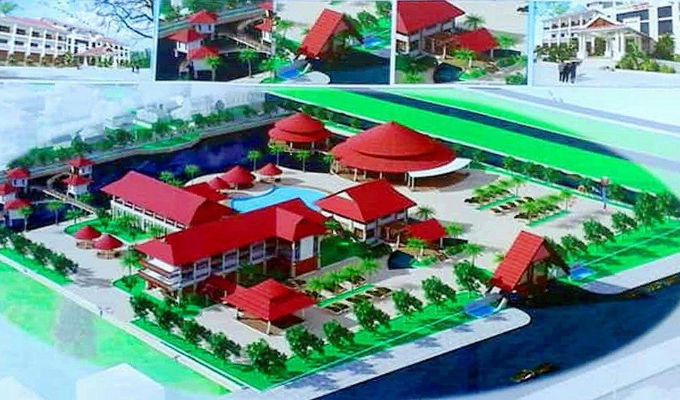 Phối cảnh dự án Nhà hàng khách sạn khu nghỉ dưỡng Đàn Điểm.