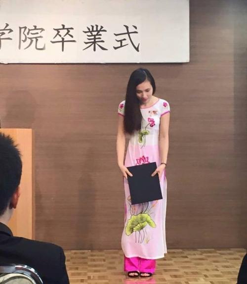 Hình ảnh H khi còn đang theo học tại Nhật Bản.