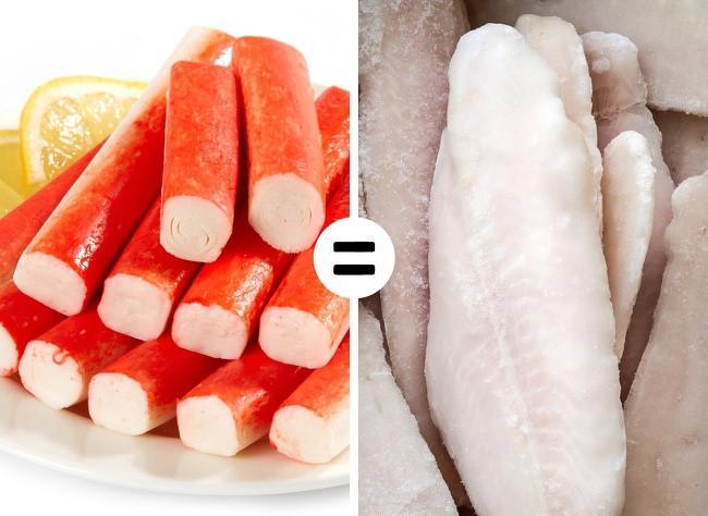 Crab sticks (thanh giả cua) là một thực phẩm độc hại thường thấy trong siêu thị. Sản phẩm này chỉ có tên liên quan tới cua chứ chúng thực chất được làm bằng cá hay gluten, tinh bột, hoặc lòng trắng trứng. Thực phẩm này chứa lượng lớn đường, hương vị, màu sắc và hương vị tăng cường không tốt cho sức khỏe.
