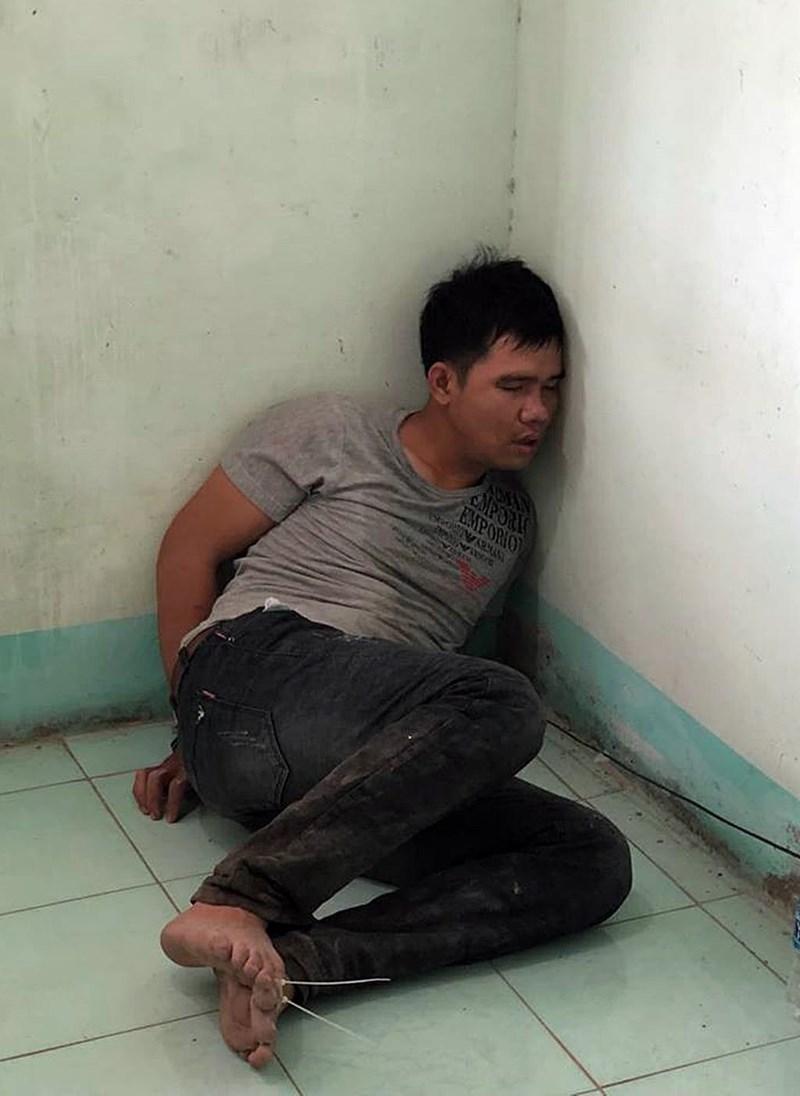 Nguyễn Văn Tuấn lúc bị bắt giữ