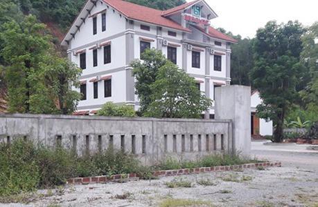 Một công trình xây dựng lấn chiếm gần 2.000m2 đất tại xã Phúc Trạch. Ảnh: Báo Quảng Bình