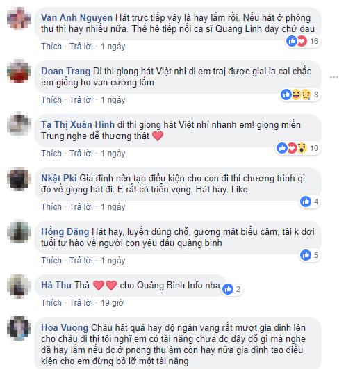 Cư dân mạng dành lời khen cho giọng hát của Quốc Linh.