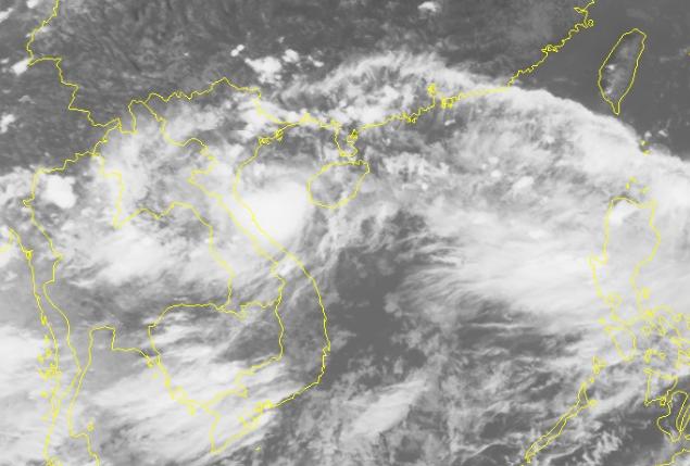 Hình ảnh bão số 3 qua ảnh mây vệ tinh