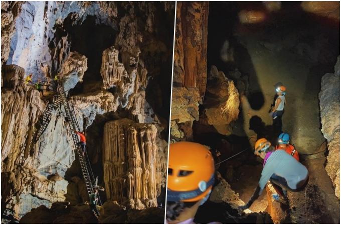 Sau một đêm ngủ ngon, cô bắt đầu leo lên một ngọn đồi cao để thám hiểm hang Sơn. Đây là hang già nhất trong hệ thống, bên trong rất lạnh và ẩm.