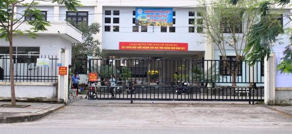 Một địa điểm thi tuyển thi tuyển viên chức ngành giáo dục tại Quảng Nam.