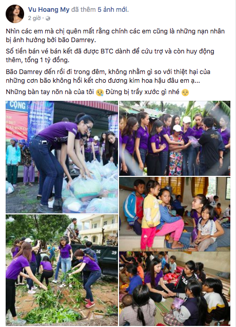 Phát ngôn gây tranh cãi trên Facebook của Hoàng My.