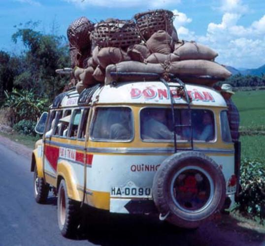 Xe buýt của hãng Đồng Tâm hoạt động tại Bình Định. Ảnh tư liệu.
