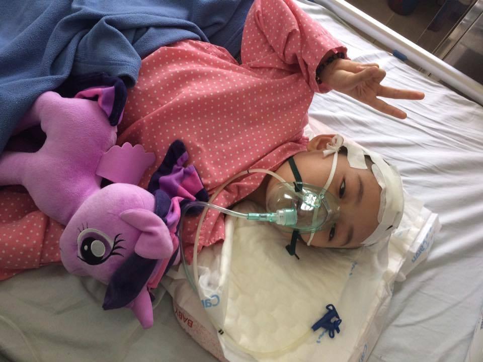 Trong thời gian chiến đấu với ung thư, An là một cô bé rất mạnh mẽ.