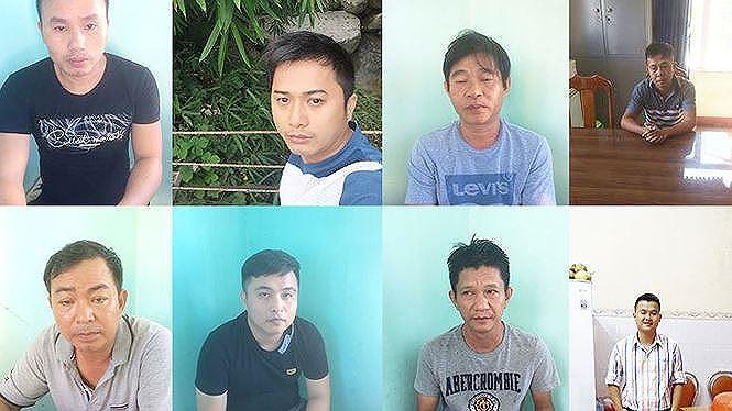 Các đối tượng tham gia đường dây cá độ bóng đá qua mạng liên tỉnh ở Quảng Nam - Đà Nẵng.