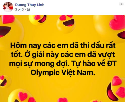 ... và Hoa hậu Dương Thuỳ Linh không giấu nổi sự tự hào.