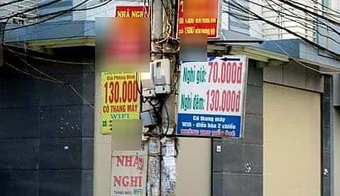 Địa điểm được mệnh danh là phố nhà nghỉ ởHà Nội. Ảnh: VietNamNet.