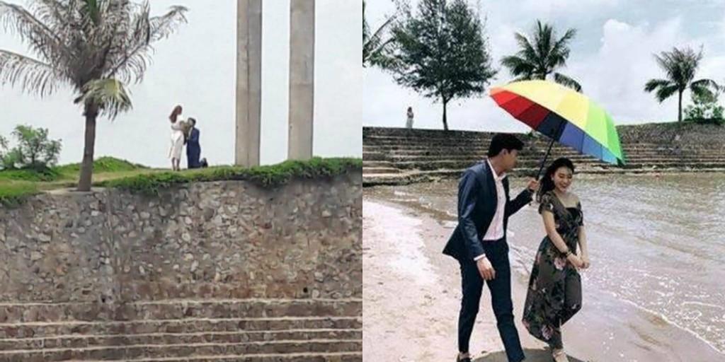 Khung cảnh của hai bức hình có vẻ giống nhau lắm à nha!