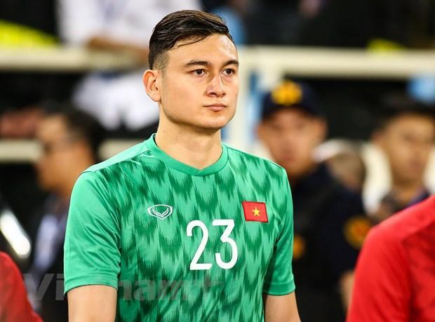Đặng Văn Lâm xứng đáng là cầu thủ hay nhất trận Việt Nam-Thái Lan tối 19/11 trên sân Mỹ Đình ở vòng loại World Cup 2022. (Ảnh: Nguyên An/Vietnam+)
