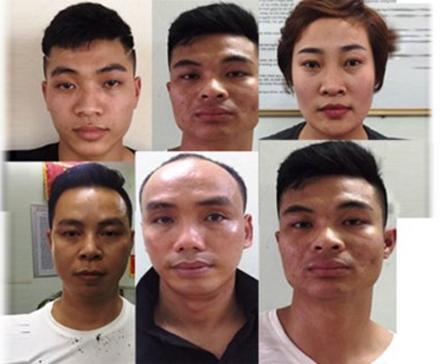 Nhóm đối tượng cưỡng đoạt tài sản do Nguyễn Thị Duyên cầm đầu